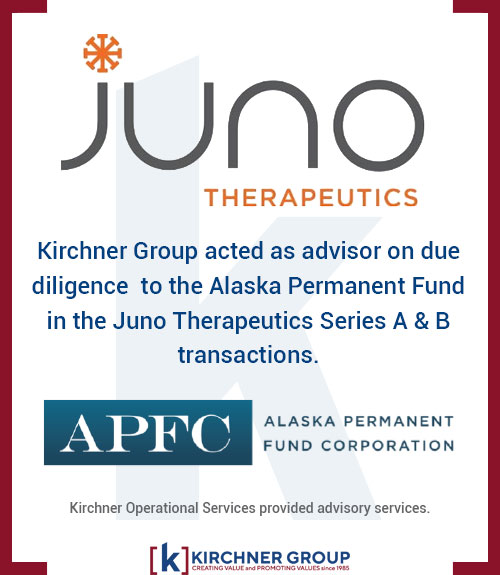 Kirchner Group acted as advisor on due diligence to the Alaska Permanent Fund in the Juno Therapeutics Series A & B transactions.