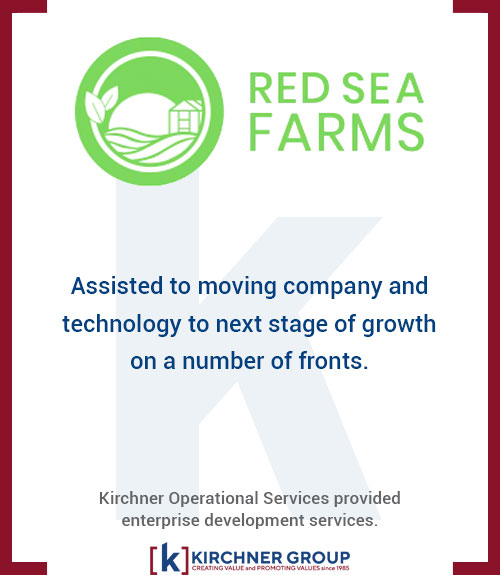 Red Sea Farms - Assisted to moving company and technology to next stage of growth on a number of fronts.