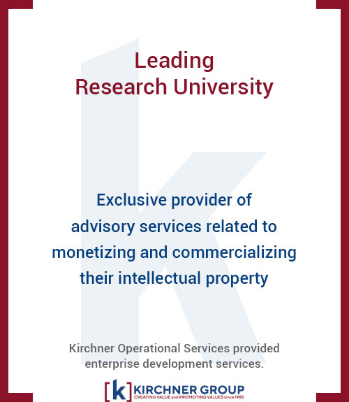 Exclusive provider of advisory services related to monetizing and commercializing their intellectual property