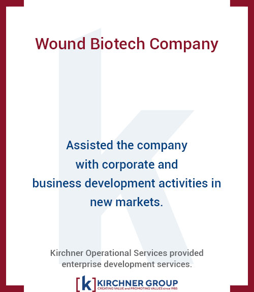 Assisted the company with corporate and business development activities in new markets.