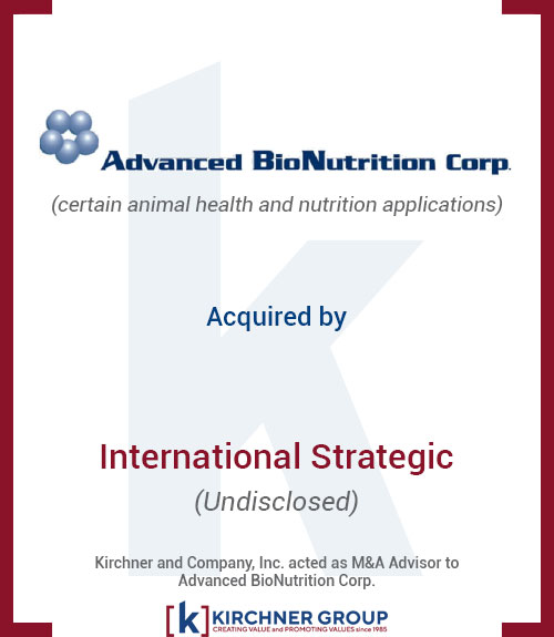 Advanced Bio Nutrition Corp Acquired by International Strategic (undisclosed)