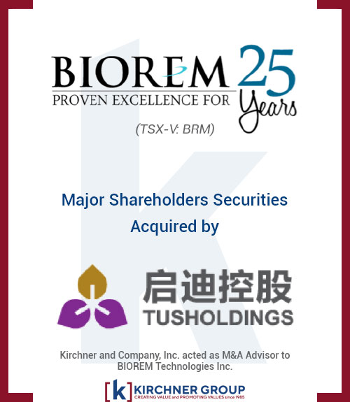 Biorem Major Shareholders Securities Acquired by Tush Holdings